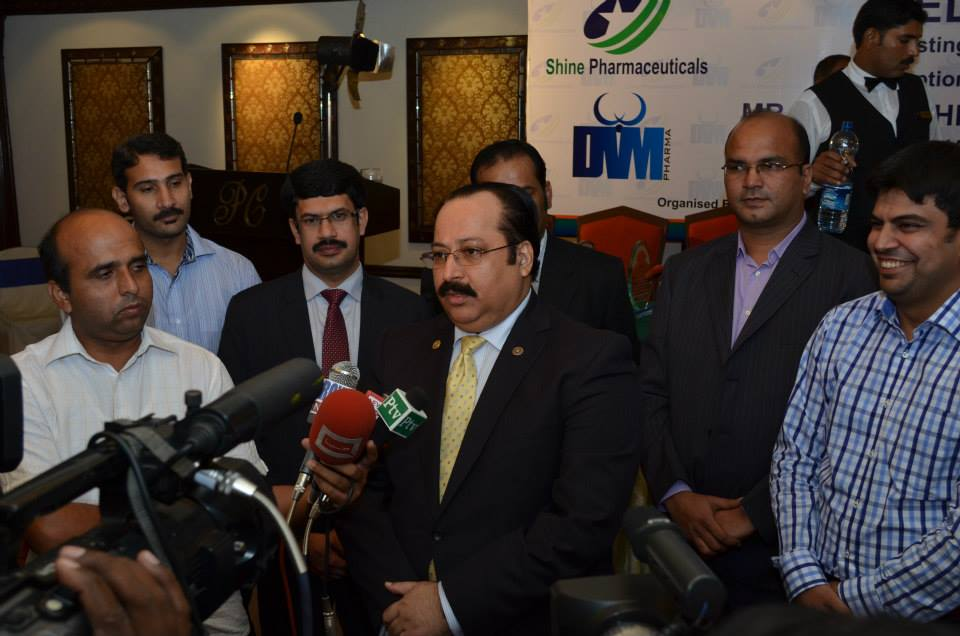Mr. Raza Mehmood khursand - Chairman PPA Talking to the Media on the Ocassion